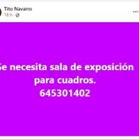 TITO NECESITA UNA SALA PARA EXPONER CUADROS