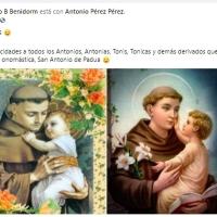 Redes.-PACO B FELICITA A TODOS LOS ANTONIOS TONICOS,TONIS, ETC.