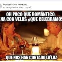 """REDES.- UNA CENA """"ROMANTICA"""""""