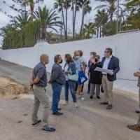 Una nueva escollera protege ya el Camí Les Coves de l'Horta de Benidorm